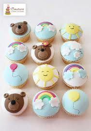 {Cupcakes sun rainbow bear balloon}  #cupcakes