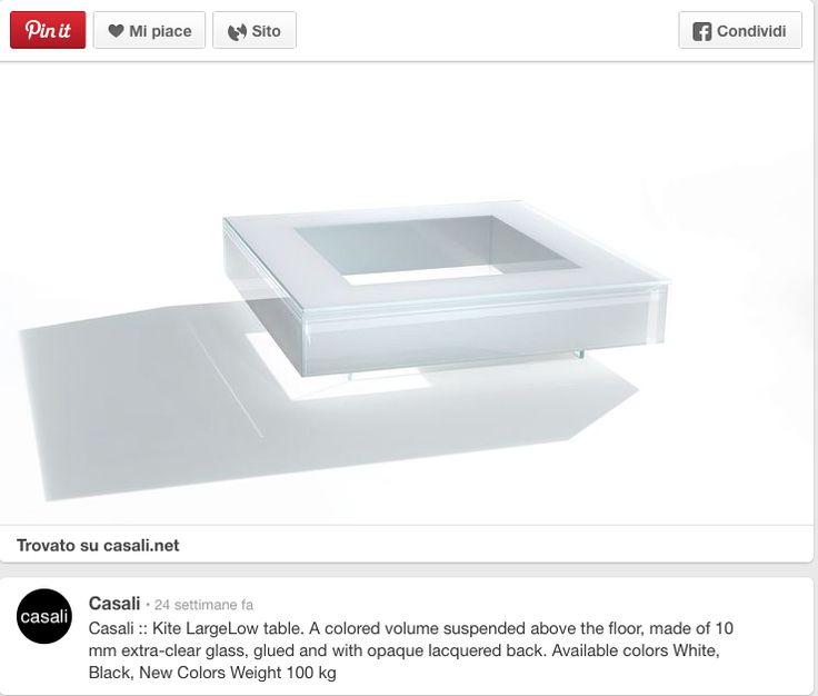 Casali tavolo in vetro laccato bianco