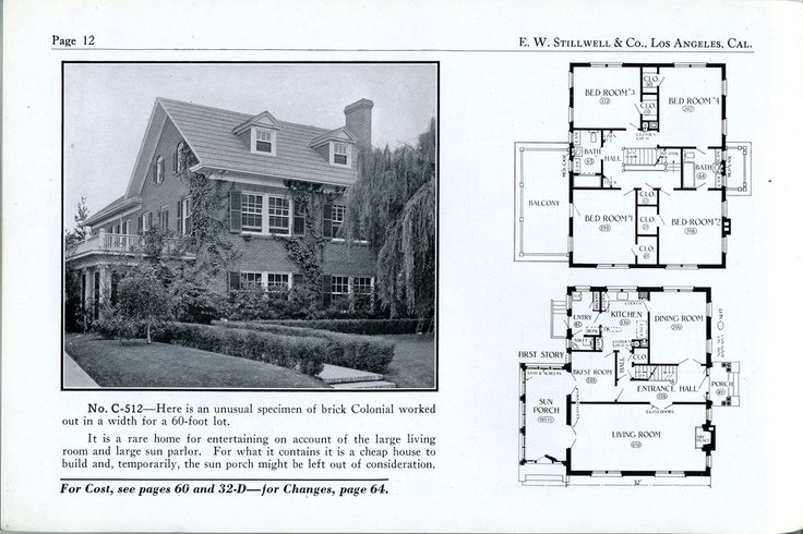 1925 stillwell c 512 vintage house plans 1920s for Chicago style bungalow floor plans