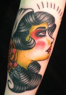 rose & vampire tattoo by Southside Tattoo & Piercing, via Flickr