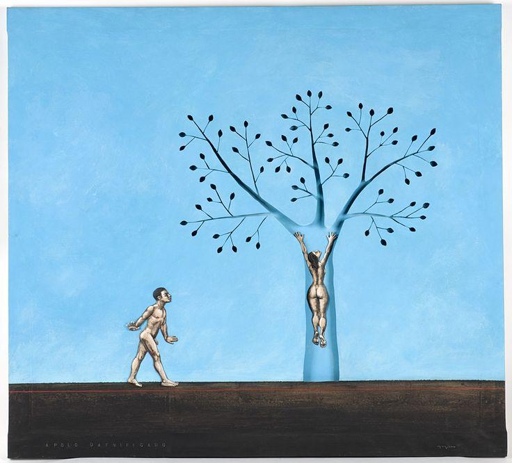 APOLO DAFNIFICADO. 120 x 109 cm. Acrílico y acero sobre lienzo. 2.700 €