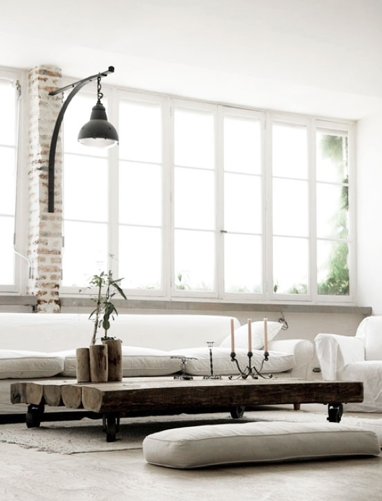 Love The Loft Look And Feel Of This Space Light Windows Raw Exposed Brick Shabby Chic Seats Combined With Modern