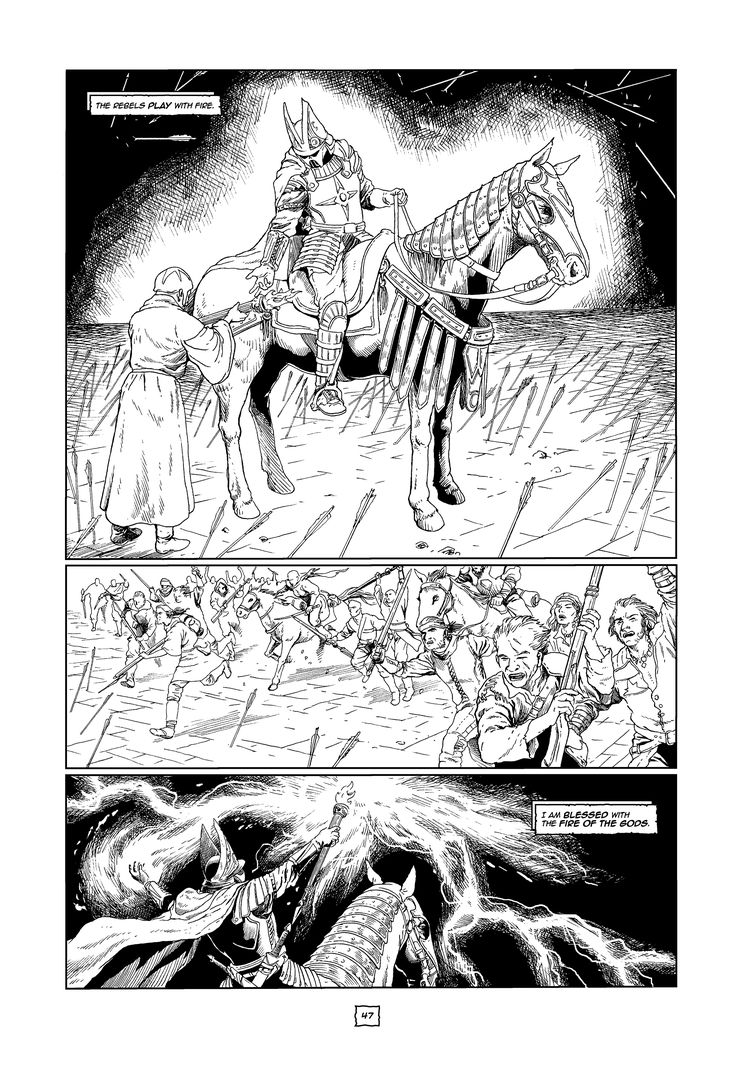 "Excerpt from vol. 2 of ""The Chronicles of Era.""Fantasy graphic novel, written and illustrated by Scott B. Henderson."