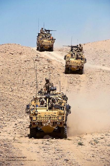 40 Commando Royal Marines Cross Afghan Desert in Jackal Vehicles by Defence Images, via Flickr