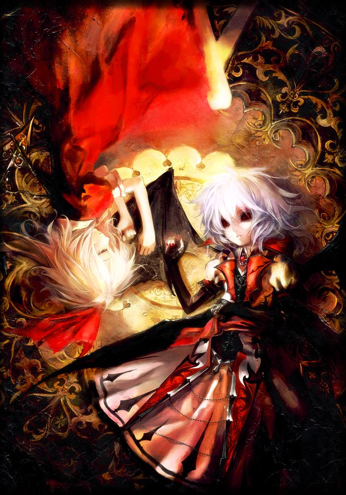 Remilia Scarlet, Flandre Scarlet (Touhou 6 - Embodiment of Scarlet Devil)