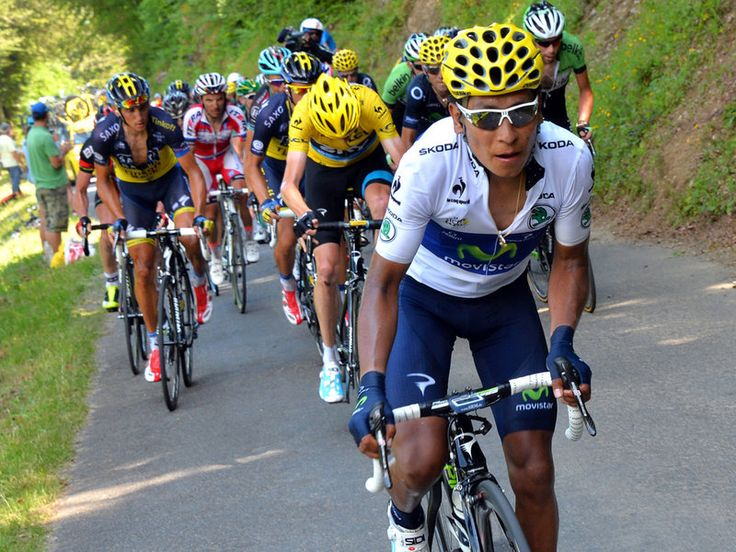 TOUR DE FRANCE STAGE NINE GALLERY Colombian Rider Nairo Quintana attacked four times on La Hourquette d'Ancizan...what a trooper!