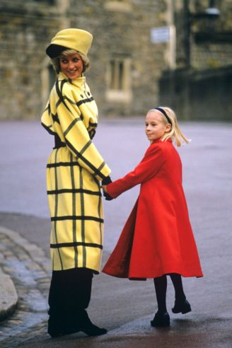 1987 Princess Diana (left) and Lady Rose Windsor attending Christmas Day church services in Windsor, England.  REX Shutterstock