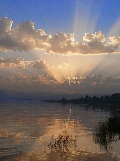 Sunset, Sea of Galilee, Israel…                              …