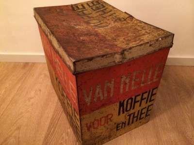 Vintage koffie bewaarbox