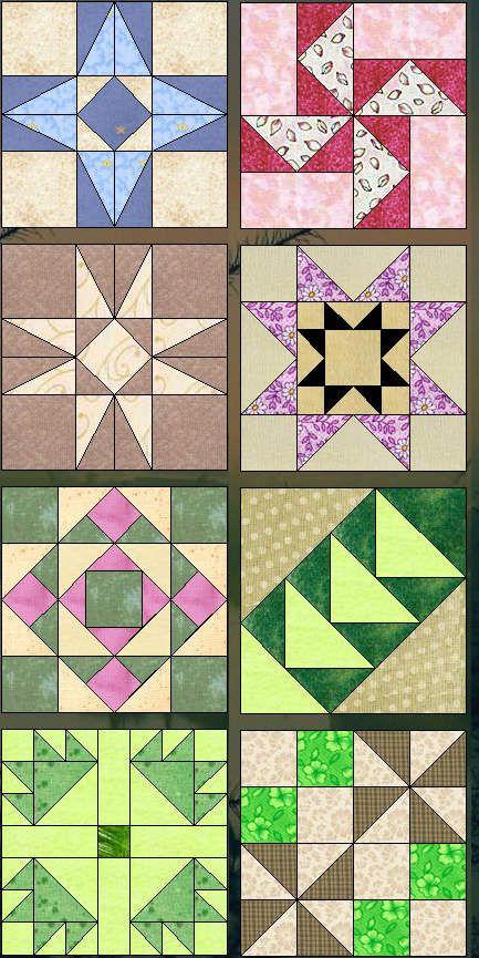 Лоскутное шитье, схемы для шитья