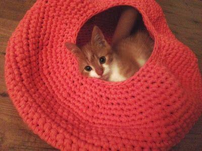 7 Best Crochet Cat Beds Images On Pinterest Crochet Cat Beds