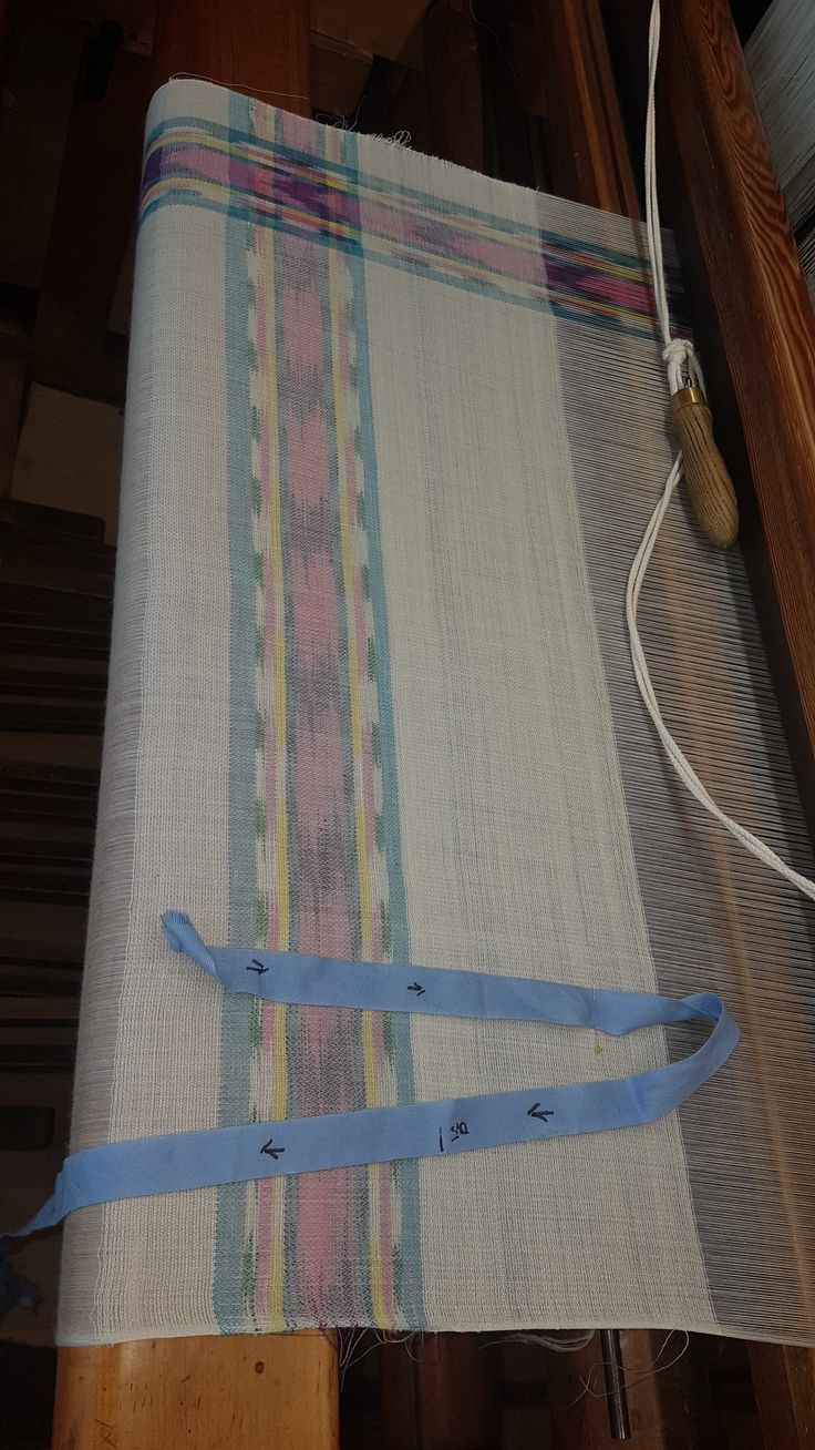 Flammtuch on the loom