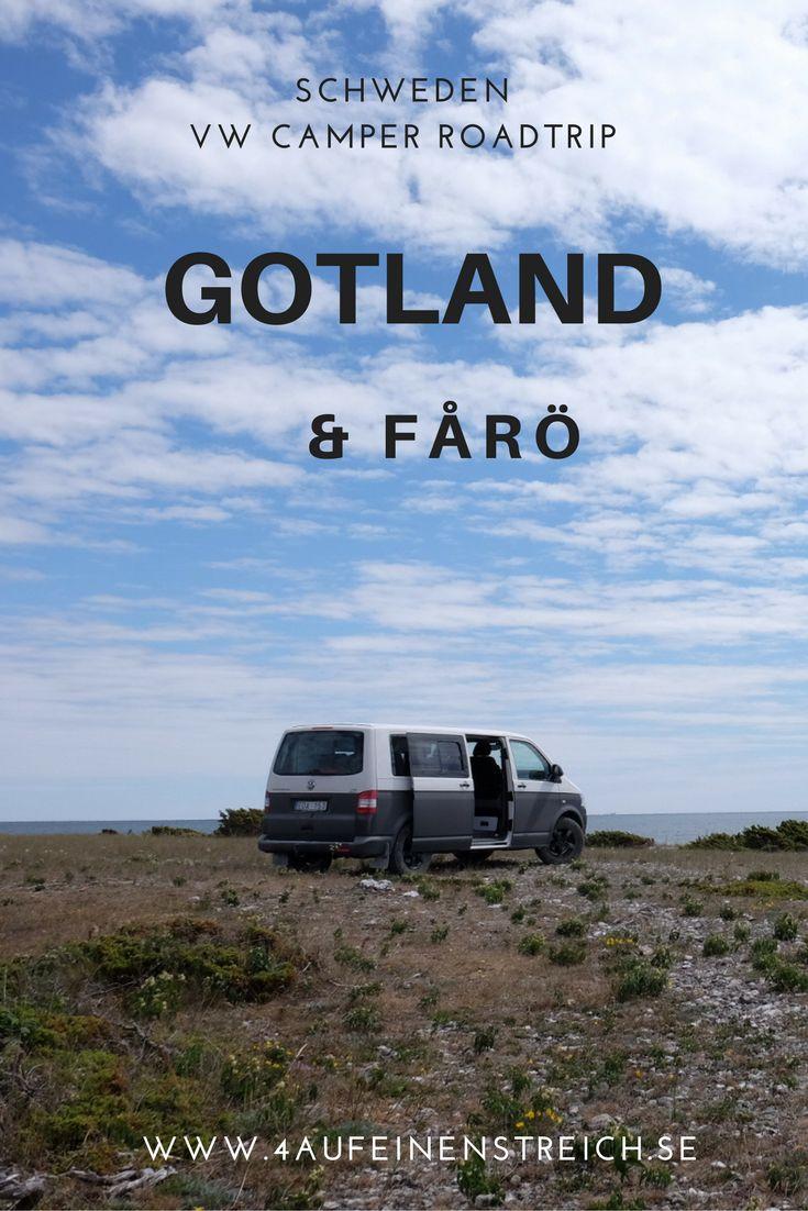 Mit dem VW Camper durch den Norden Gotlands und die wunderschöne Insel Fårö. Ein Traumziel für Camperreisende und Schwedenliebhaber.