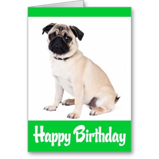 Happy Birthday Pug Puppy Dog Greeting Card Verse Zazzle Com