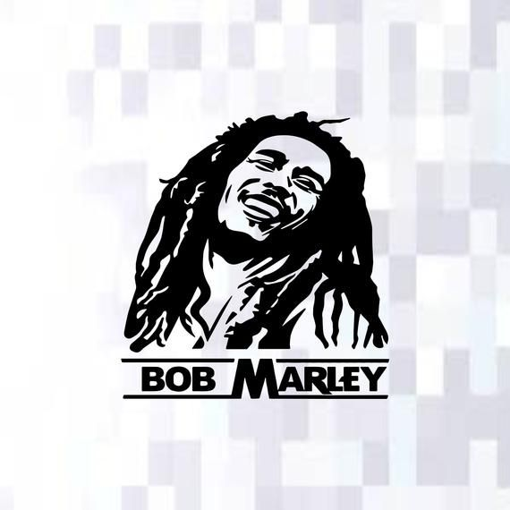 Bob Marley Silhouette Svgthe Legendpngreggae Musicjamaica Etsy Marley Silhouette Svg Bob Marley