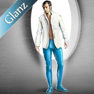 Herren Glanz Strumpfhose mit Frontpanel, H 236 GU 30 DEN
