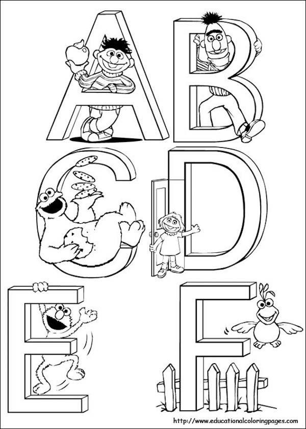 alphabet activities free sesame themed alphabet coloring pages