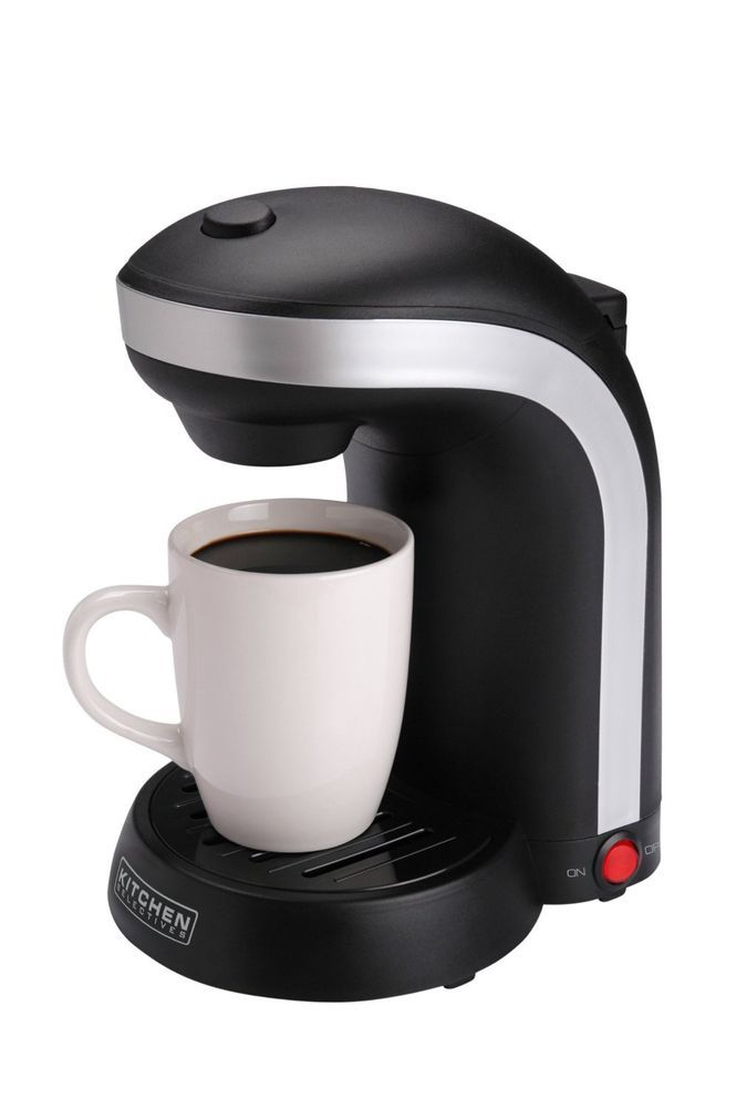 Kitchen Selectives CM-688 1-Cup Single Serve Drip Coffee Maker, Black #KitchenSelectives