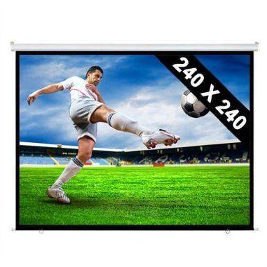 240 x 240 cm Rollo Leinwand - 343cm Diagonale für HDTV: Amazon.de: Elektronik