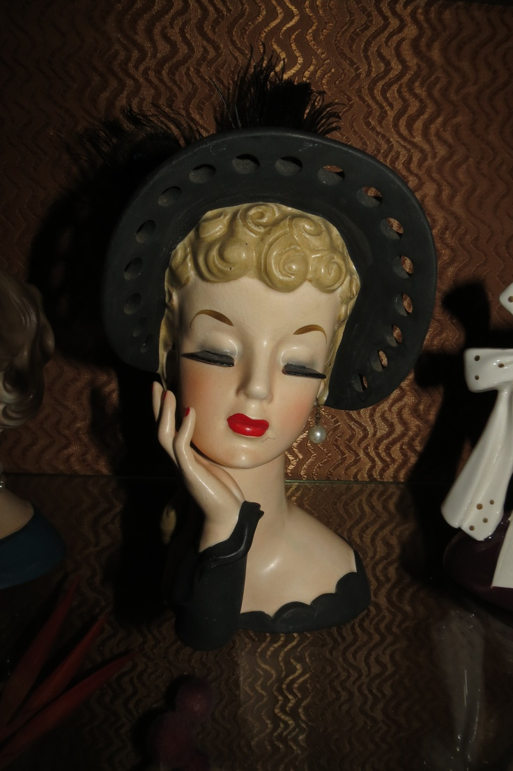 10 Images About Vintage Ladies Heads Vases On Pinterest Victorian Ladies Ruby Lane And