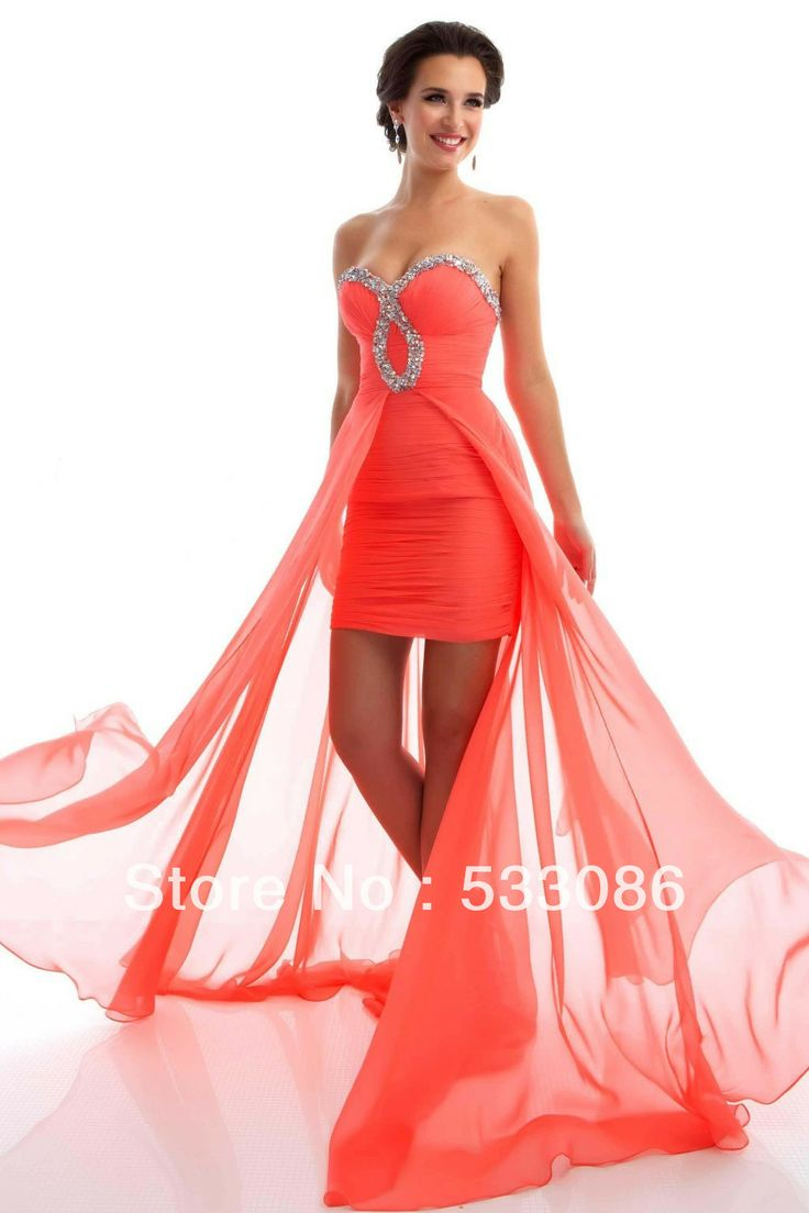 Best Selling 2013 Beading Ruched Sweetheart Orange White Royal Blue Cheap Chiffon High Low Prom Dress Girl Graduation Dresses