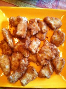 I love making appetizers, and these crispy chicken bites are always a favorite at any party. Cutting the chicken in small bite size pieces or in strips makes it an easy finger food. I leave the c…