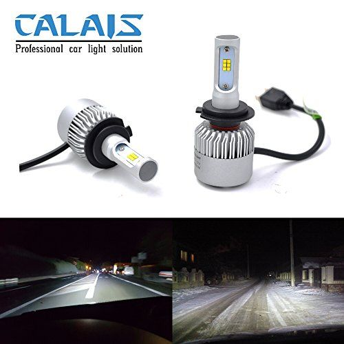 Calais+New+Super+Bright+H7+Led+Car+Headlight+Bulbs+with+CSP+Chips-All+in+One+Design-8000LM+6500K+Cool+White