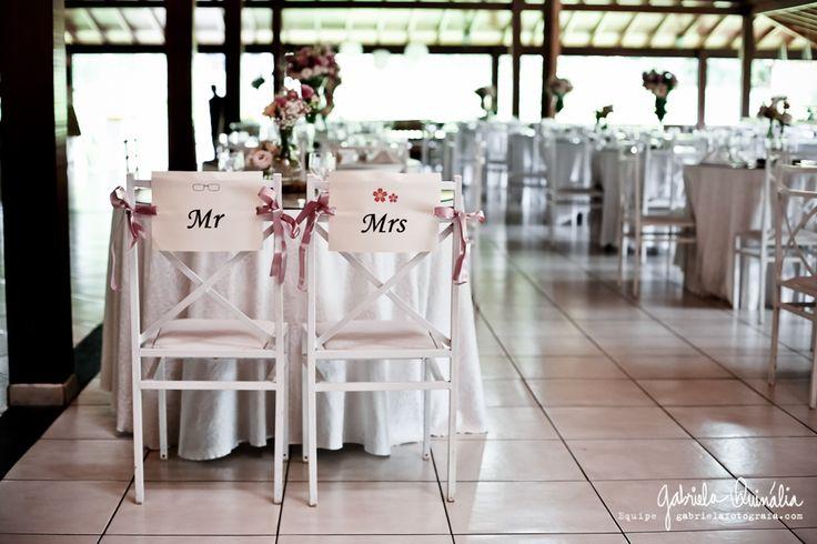 Plaquinha de cadeiras no Buffet Ravena Garden, Mairiporã, SP.