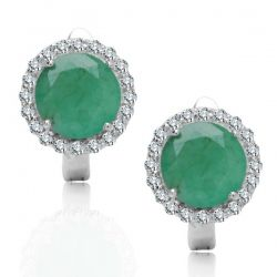 #silverearrings, #emeralds, #naturalstones, www.srebrno-zlota.pl - #online #shop with #gold and #silver #jewellery. Contact us: sklep@srebrno-zlota.pl