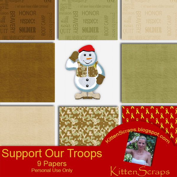 Support Our Troops Freebie - KittenScraps & Friends ForumSupport Our Troops Freebie - KittenScraps & Friends Forum, old blog freebie and retired kit by KittenScraps