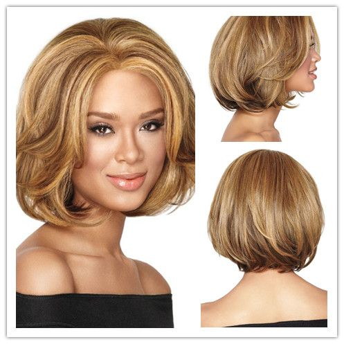 $25.42 (Buy here: https://alitems.com/g/1e8d114494ebda23ff8b16525dc3e8/?i=5&ulp=https%3A%2F%2Fwww.aliexpress.com%2Fitem%2FFree-Shipping-1PC-African-American-Short-Hairstyles-Wigs-for-Black-Women-Synthetic-Kanekalon-Fiber-Wavy-Honey%2F32527108617.html ) Free Shipping 1PC African American Short Hairstyles Wigs for Black Women Synthetic Kanekalon Fiber Wavy Honey Blonde U Part Wig for just $25.42
