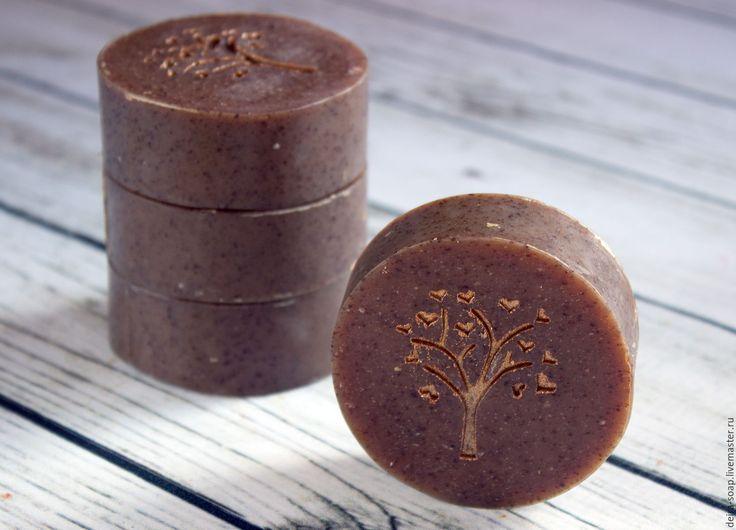 Купить BAMBOO мыло-детокс с бамбуковым углем  для проблемной кожи - коричневый, мыло ручной работы