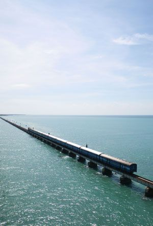 Rameshwaram, India : Pamban Bridge