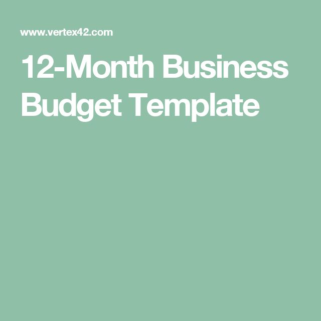 12-Month Business Budget Template