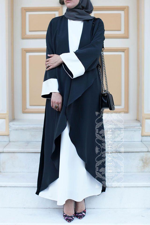 Grey&White Abaya Dress