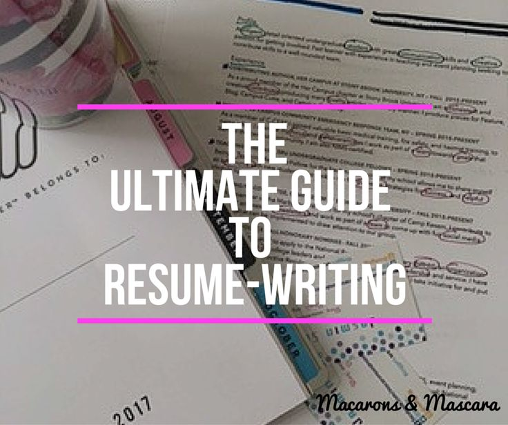 Need help writing your resume for jobs and internships? I've got you covered!