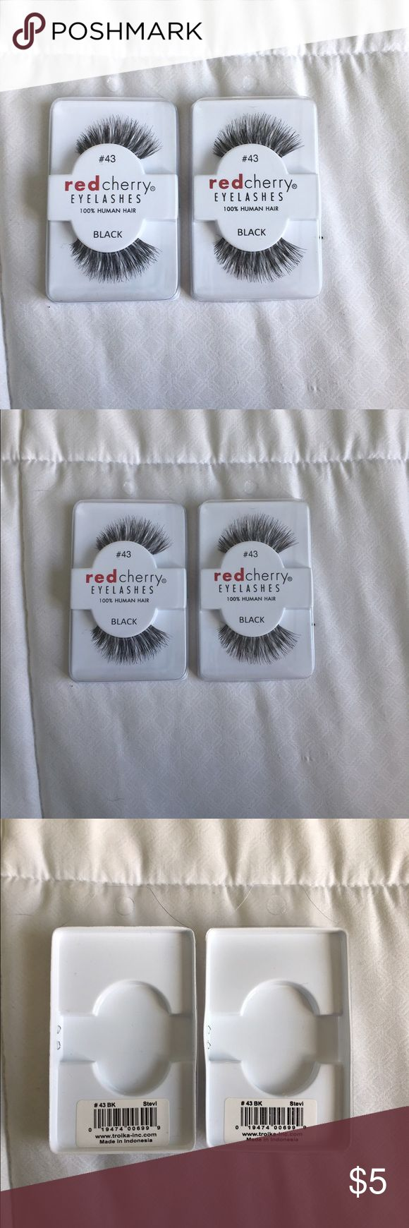 Red Cherry Eyelashes Brand new Red Cherry Eyelashes #43 in perfect condition. Never taken out of the package or used! red cherry Makeup False Eyelashes