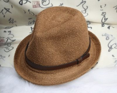Unisex Travel Casual Linen Jazz Hat Spring Summer Men Women Beach Sun Belt Straw Hats 5 Colors