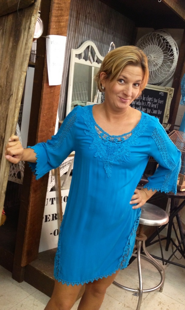Funky Turquoise Woven Dress...call to order 334.705.8985: Order 3347058985