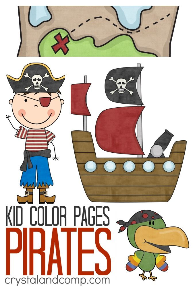 pirate activities for kids: coloring pages