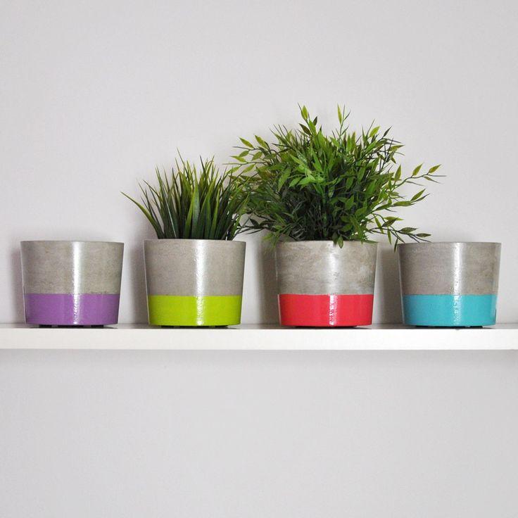 103 best arte images on pinterest cement craft and minimal - Maceteros de cemento ...