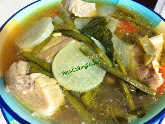 Pork sinigang substitute lemon for the tamarind for Substitute for fish food