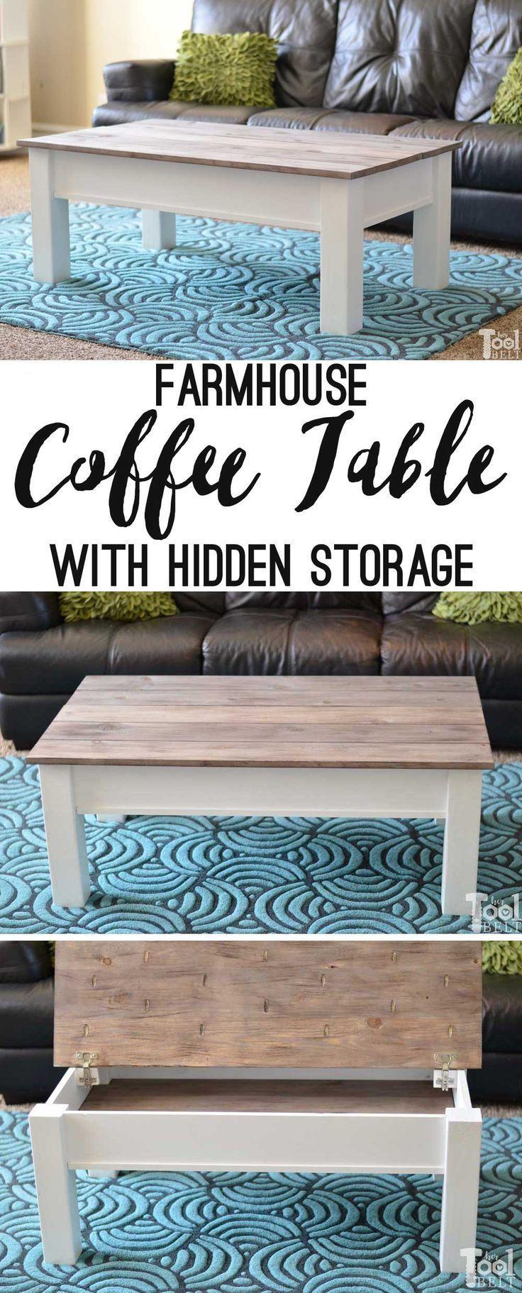 Einfacher #Farmhouse #Style #Coffee #Tisch #mit #b…