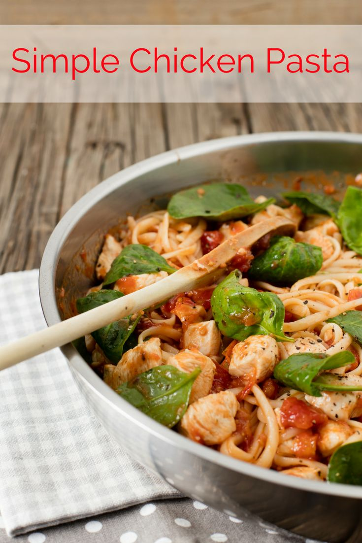 Easy dinner recipe. This quick & easy chicken pasta offers a taste of the Mediterranean and convenience that's perfect for a midweek dinner.