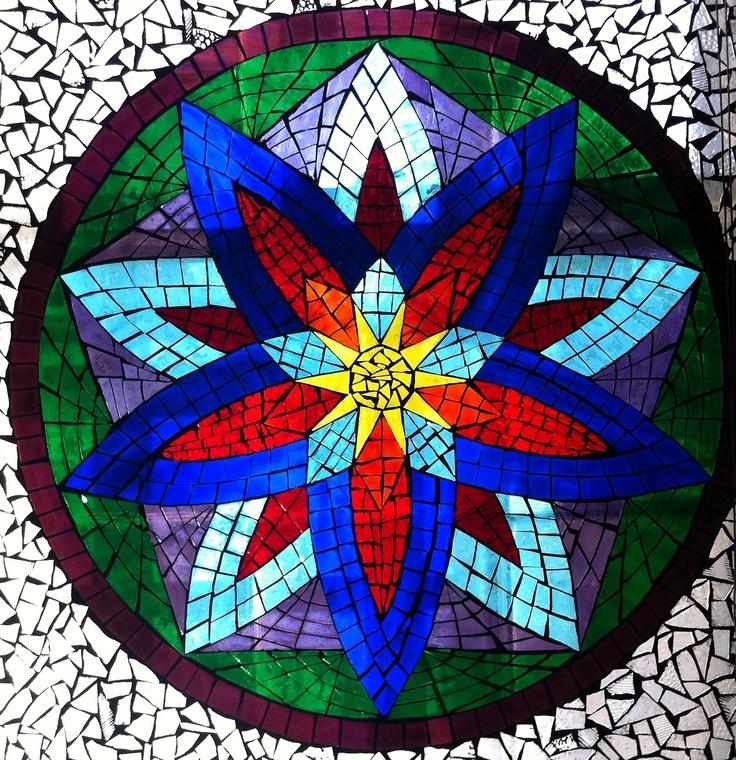 glass on glass mosaic