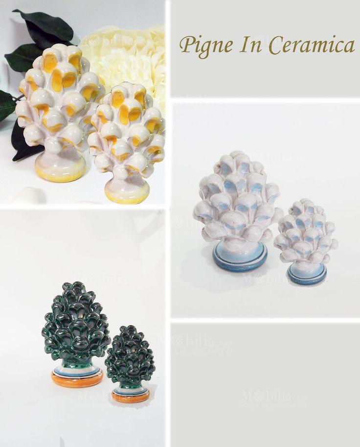 Pigne Ceramica di Caltagirone, realizzate rigorosamente a mano con antiche tecniche calatine, in pregiata ceramica di altissima qualità, dipinte a mano. Scopri le promo su Mobilia Store