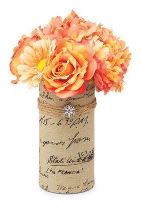 #Nostalgia #Vintage #Trend Share the Love Spring Floral Burlap Vase