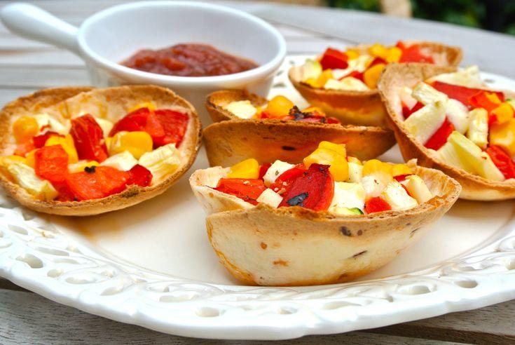 tortillabakjes met groenten