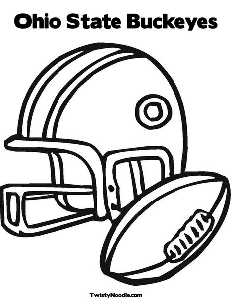 College Football Coloring Pages Helmets Printable