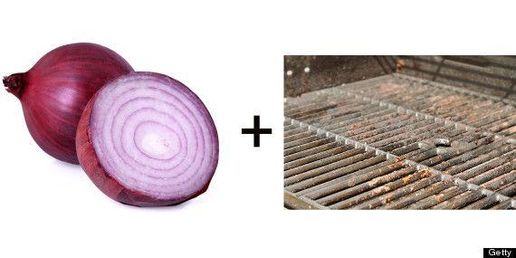 cebolla para limpiar las rejillas de tu parrilla